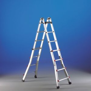 Telescopic multipurpose and combination ladders